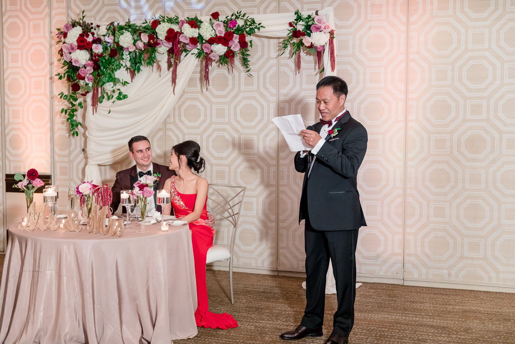 father of the bride giving a speech