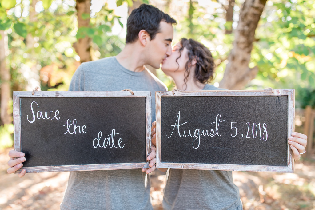 romantic private residence save the date photo