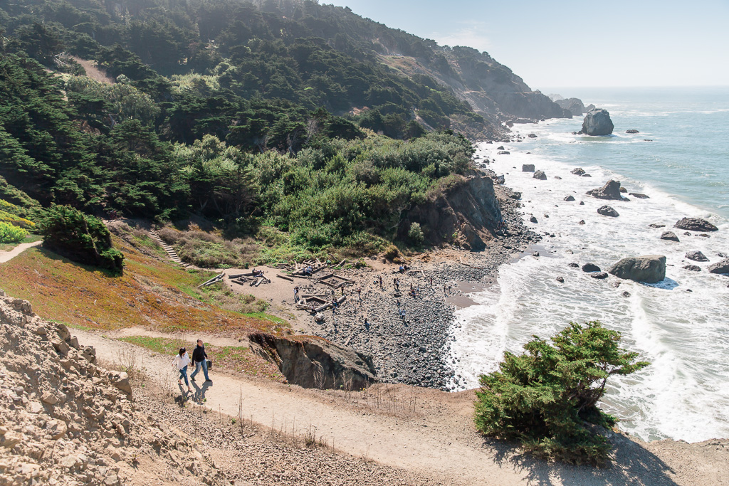 couple walking on the lands end trail