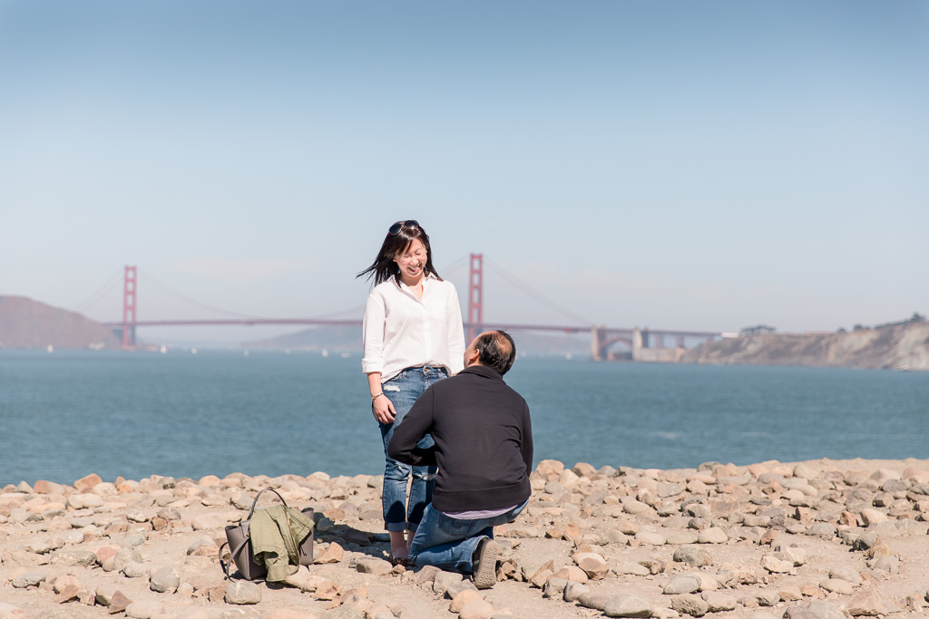 he proposed at the end of the lands end hiking trail