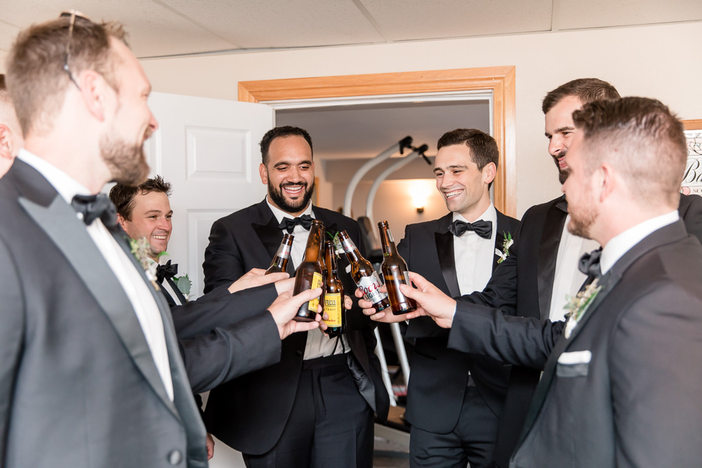 a quick toast before the ceremony