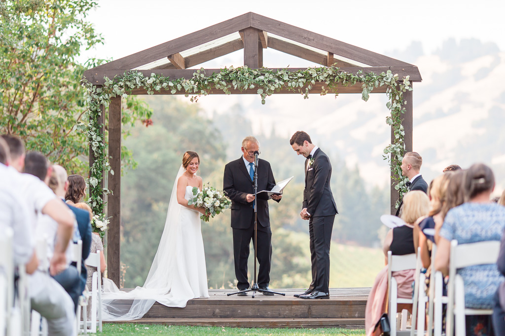 wedding ceremony at the highlands estate - everything was picture perfect!