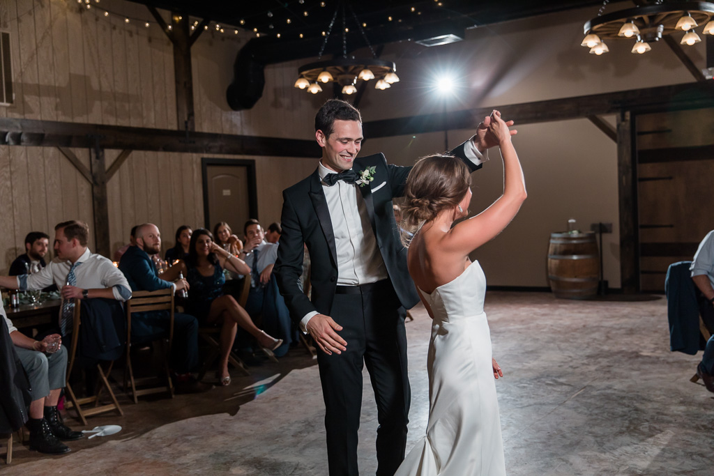 a slow twirl during their first dance
