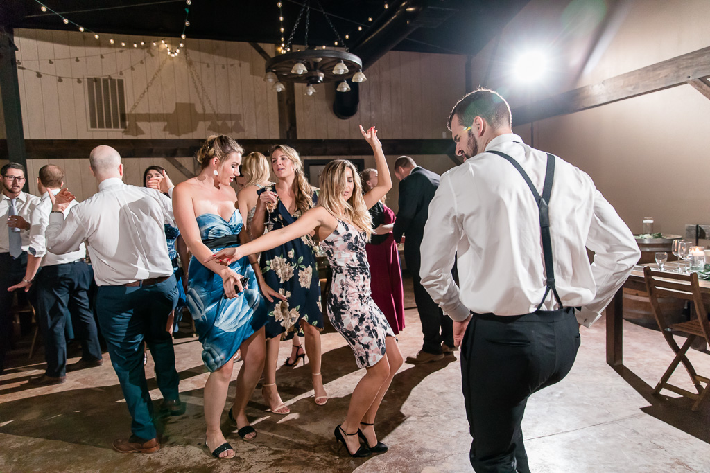 wedding guests owning the crowded dance floor