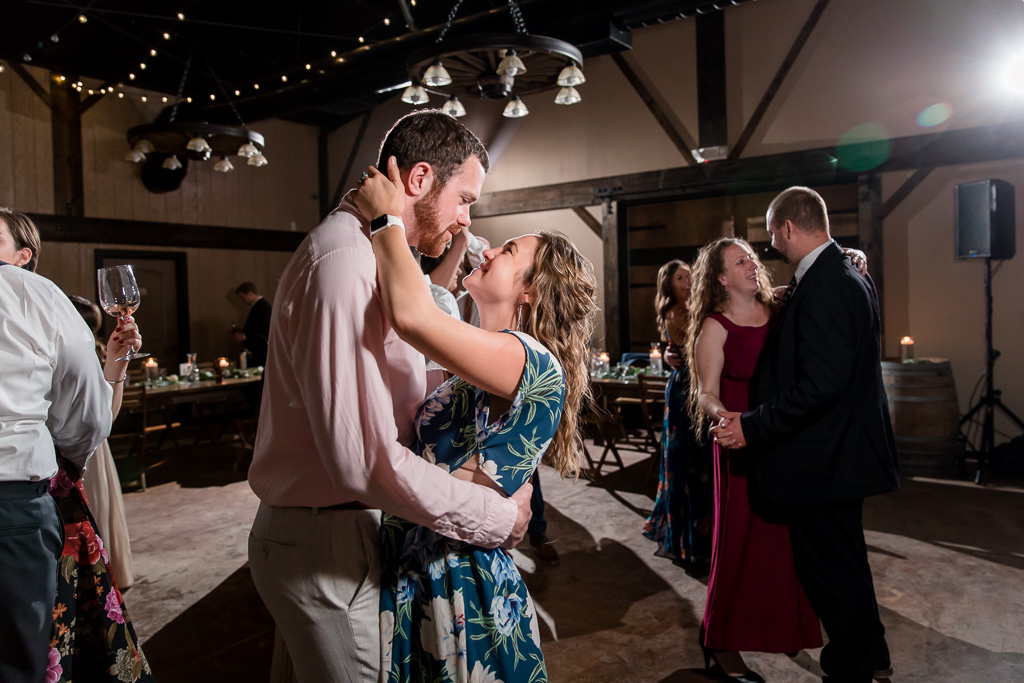 wedding guests spreading their love on the dance floor