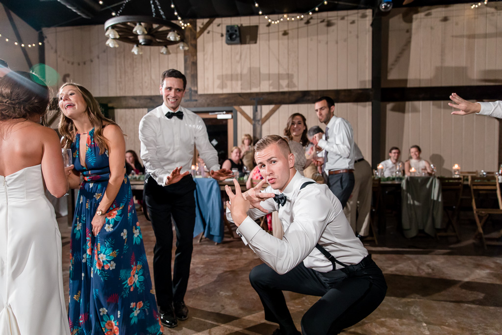 groom and best man's hilarious dance moves