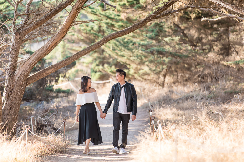 cypress grove trail engagement photo