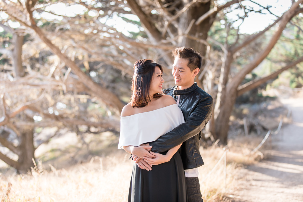 point lobos cypress tree engagement photo