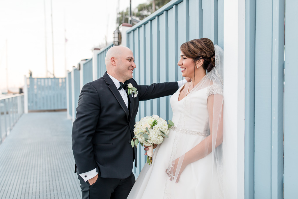 wedding photo by the pier