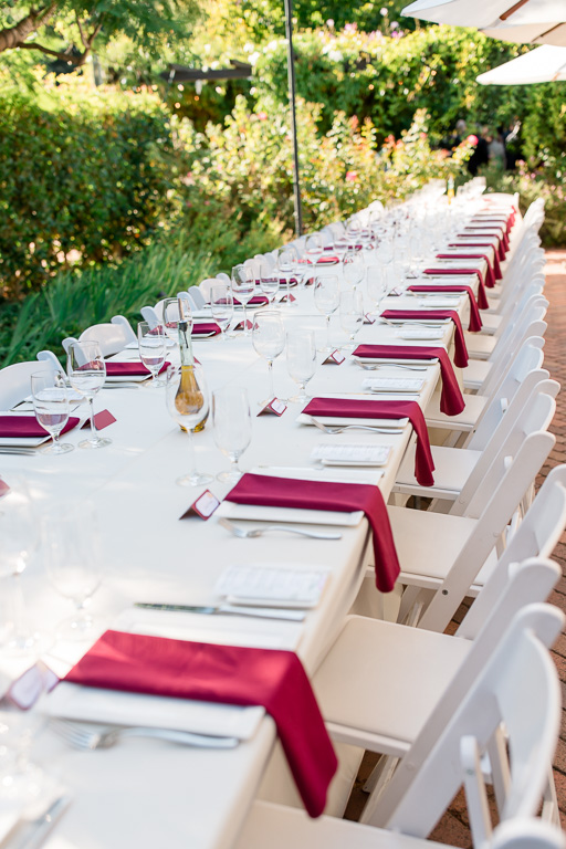 outdoor long table set up