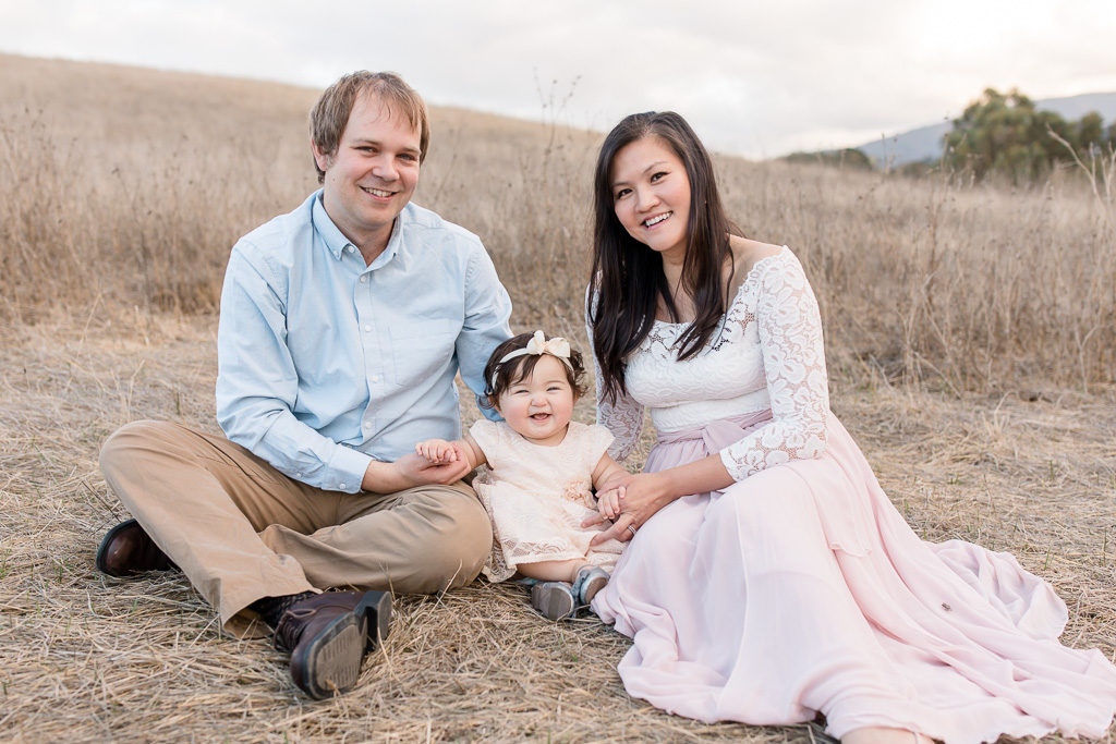 Palo Alto outdoor family portrait
