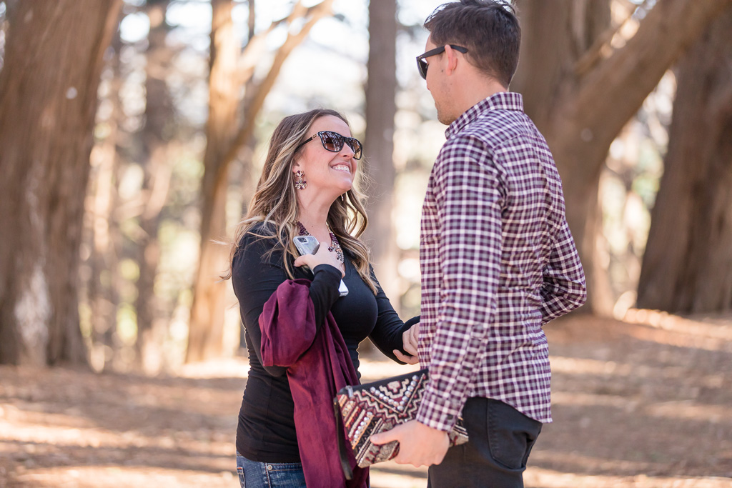 post surprise proposal candid moment