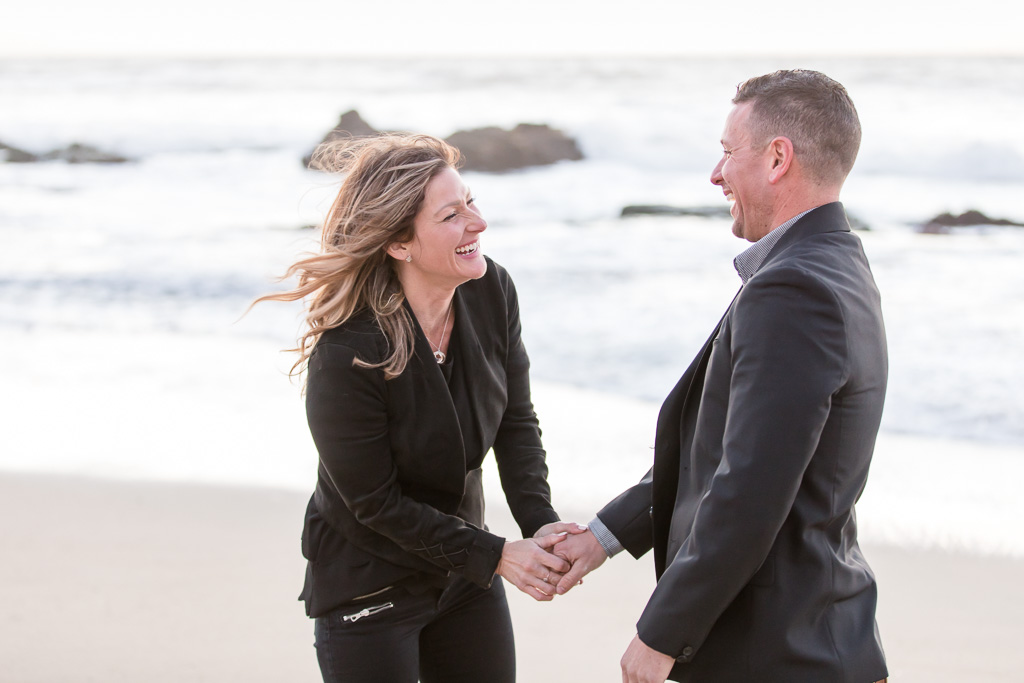 pure candid happy moment bay area engagement