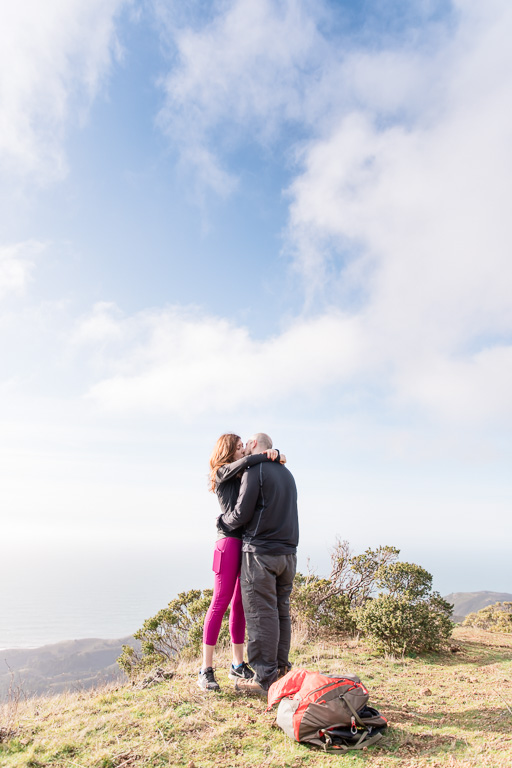 first kiss as an engaged couple