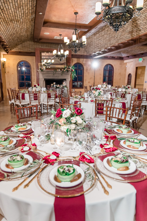 a beautifully designed wedding at regale winery and vineyards