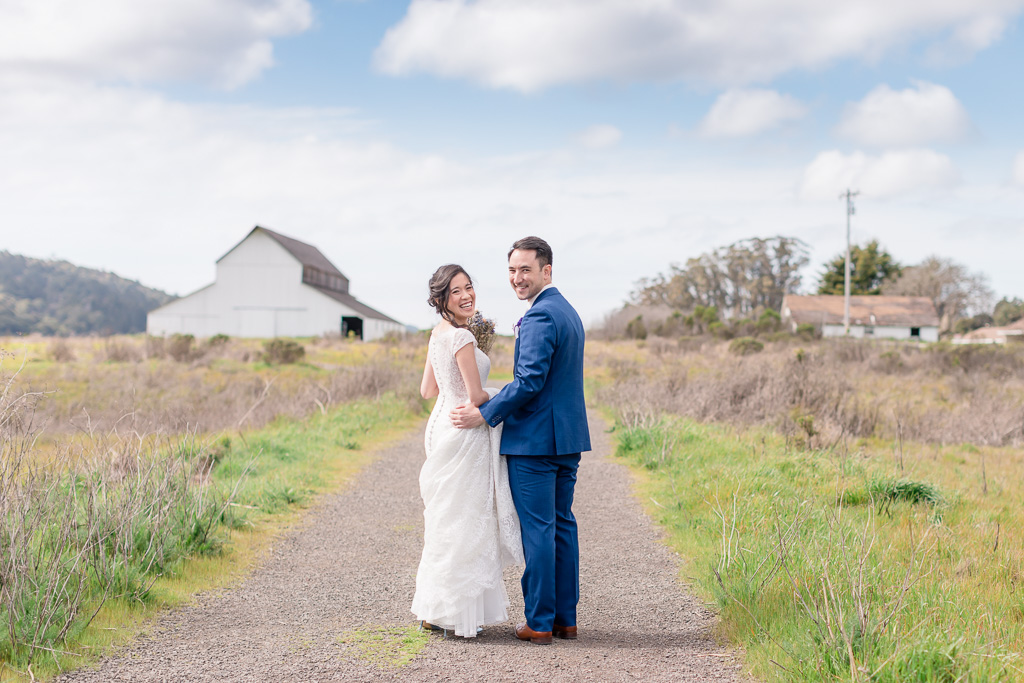 Point Reyes Station wedding portrait
