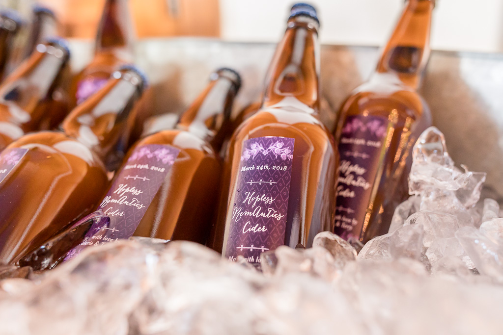 wedding cider made by the sister of the groom