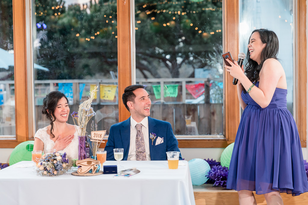 bridesmaid giving a speech