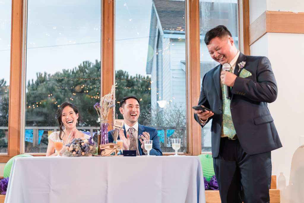 groomsman giving a funny toast