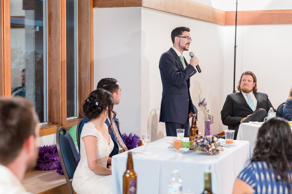 groomsman made a heartfelt blessing