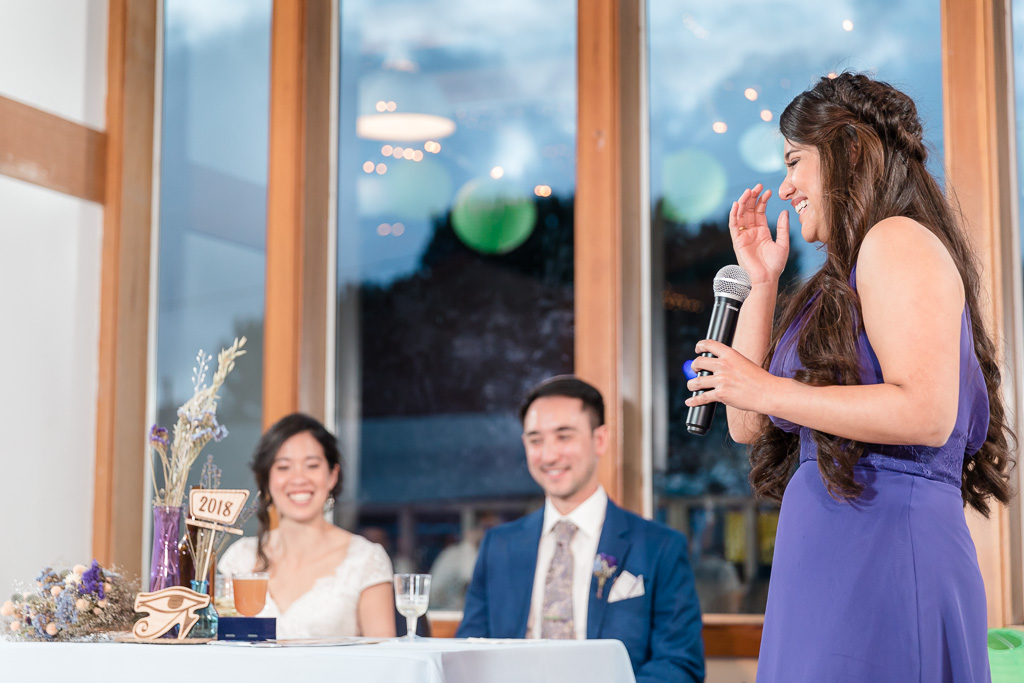 bridesmaid cried when giving a speech