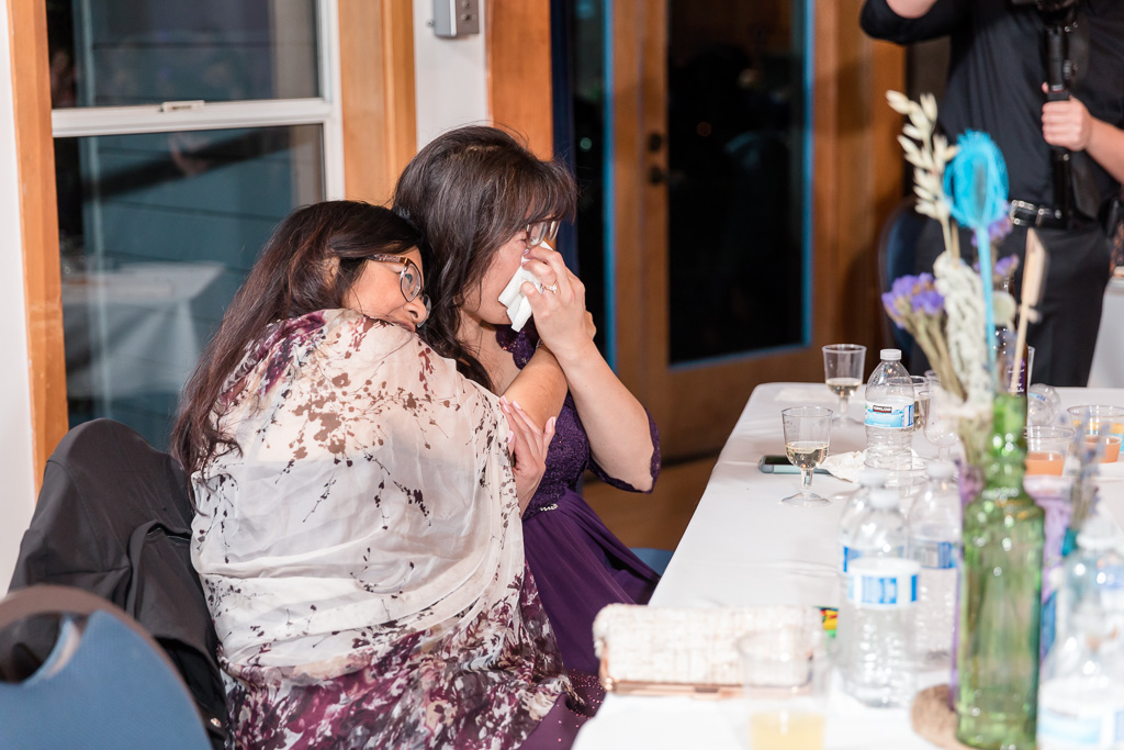 mother of the bride got emotional during the father daughter dance
