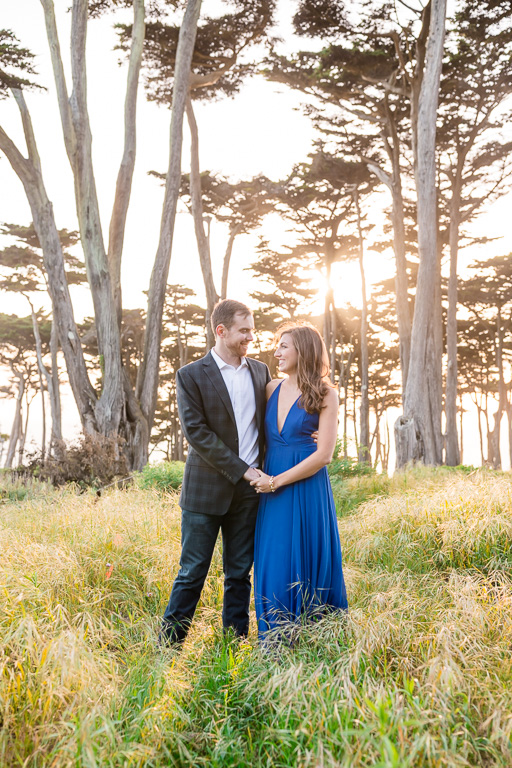 lands end cypress forest engagement picture