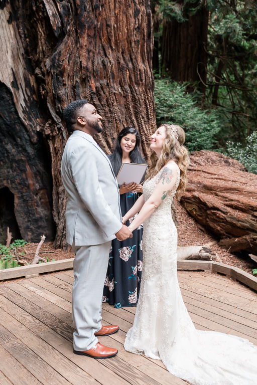 a romantic muir woods wedding
