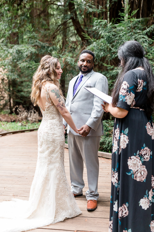 elopement in the California redwoods