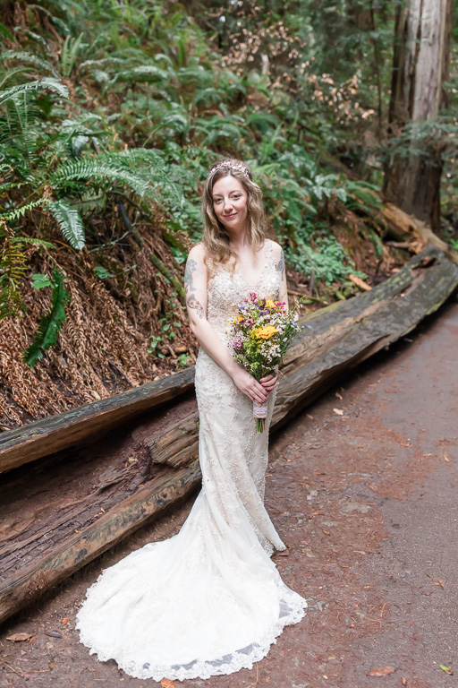 beautiful bridal portrait at muir woods