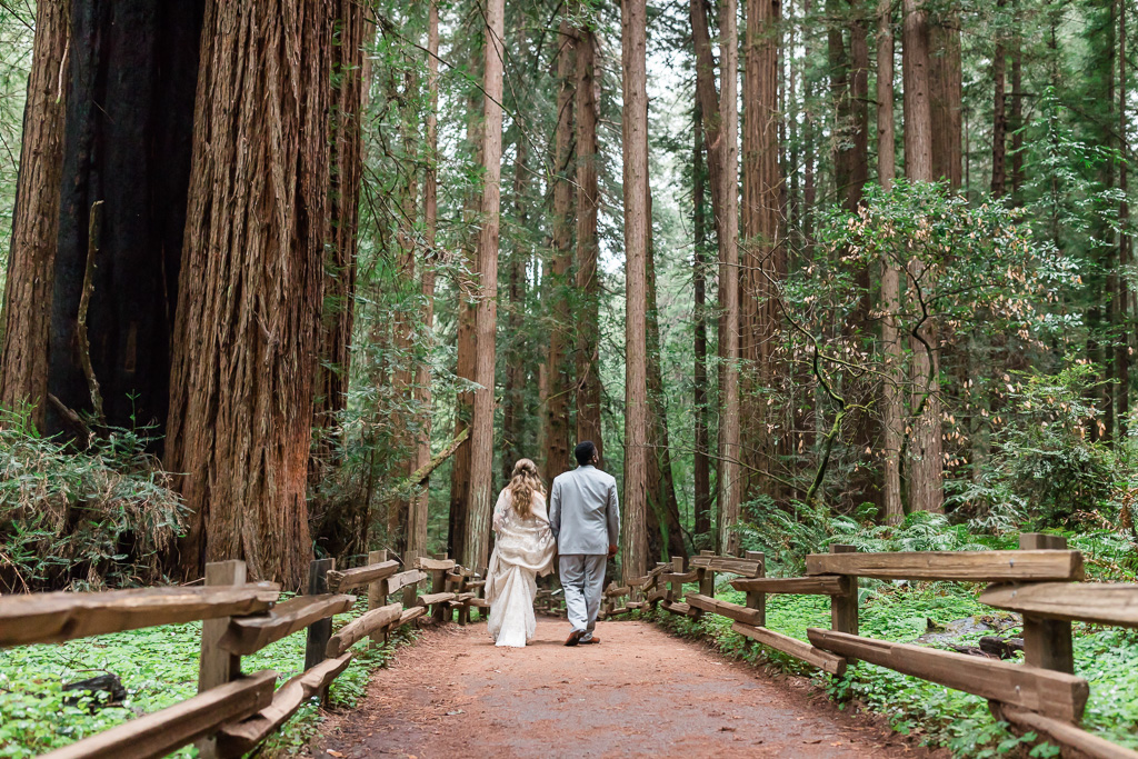 muir woods wedding portrait