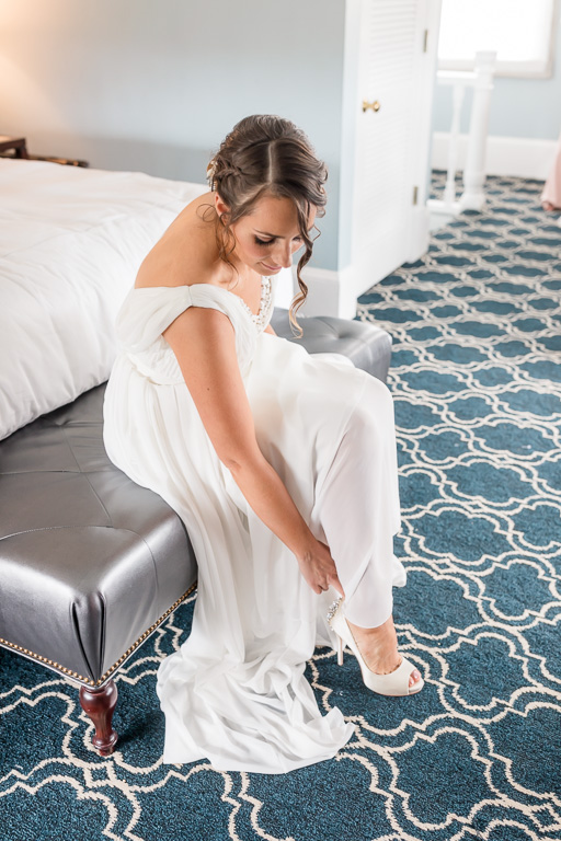 bride getting ready at the Claremont Hotel & Spa