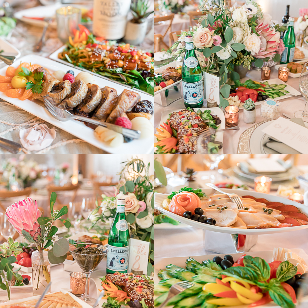 Russian style wedding reception - it's a feast and everything is eyecandy!