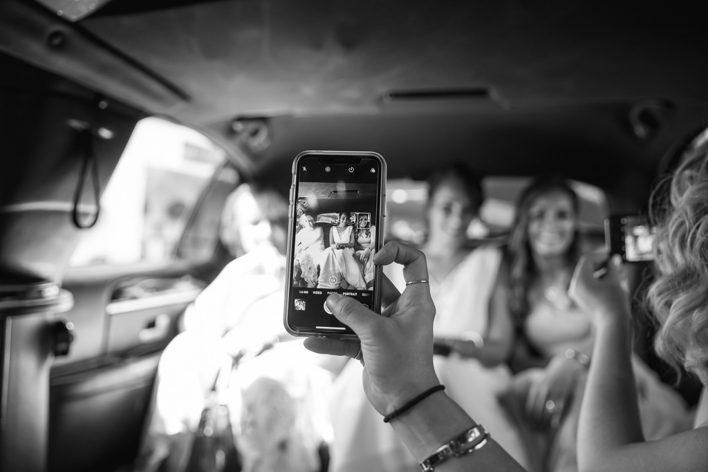 an iPhone moment in the limo