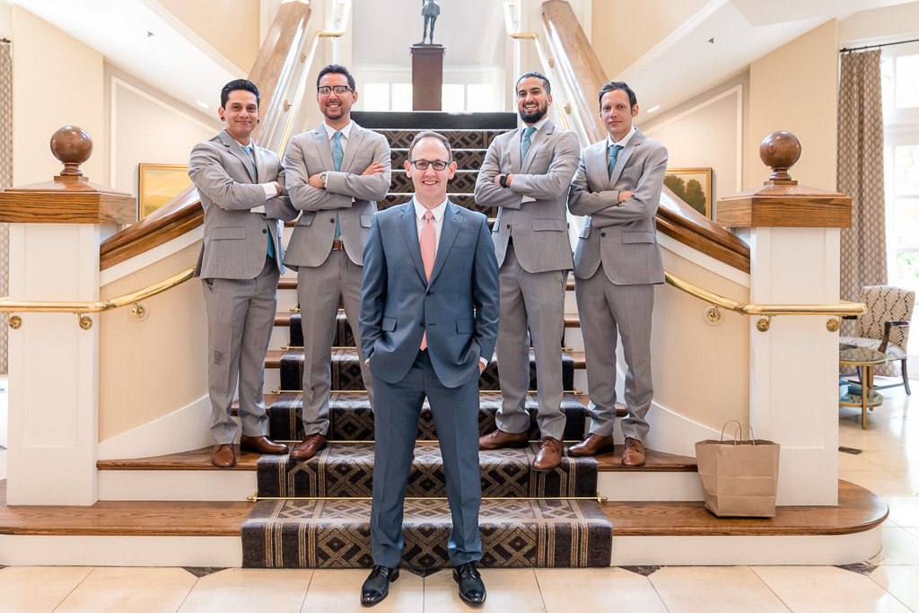 wedding group photo in Lafayette Park Hotel & Spa
