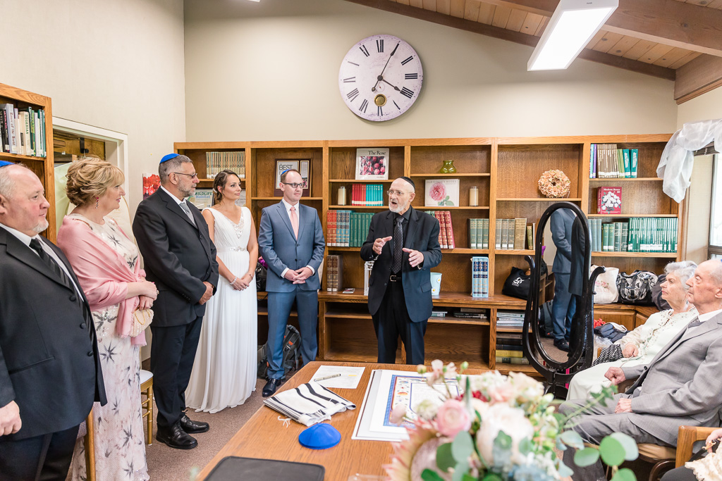 the ketubah signing in the library