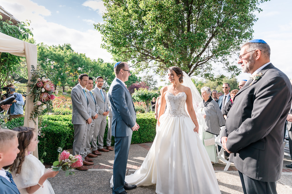 Bride circling groom seven times - modern Jewish ceremony traditions