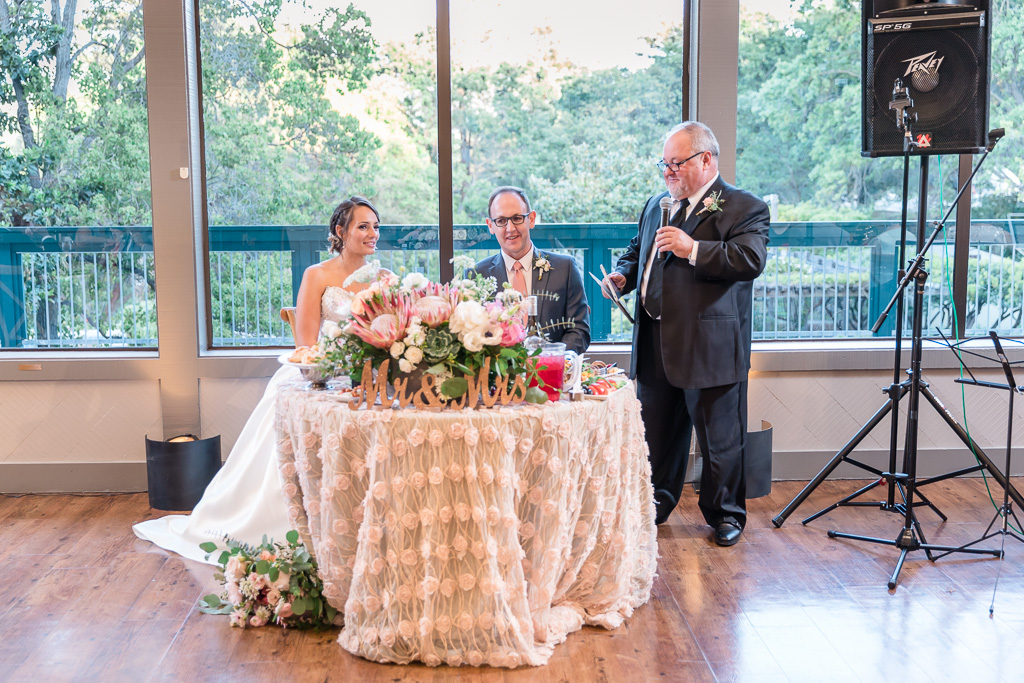 father of the groom giving a wedding toast