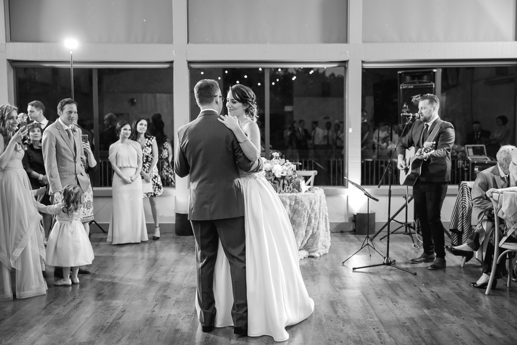 Romantic first dance at the Gardens at Heather Farm