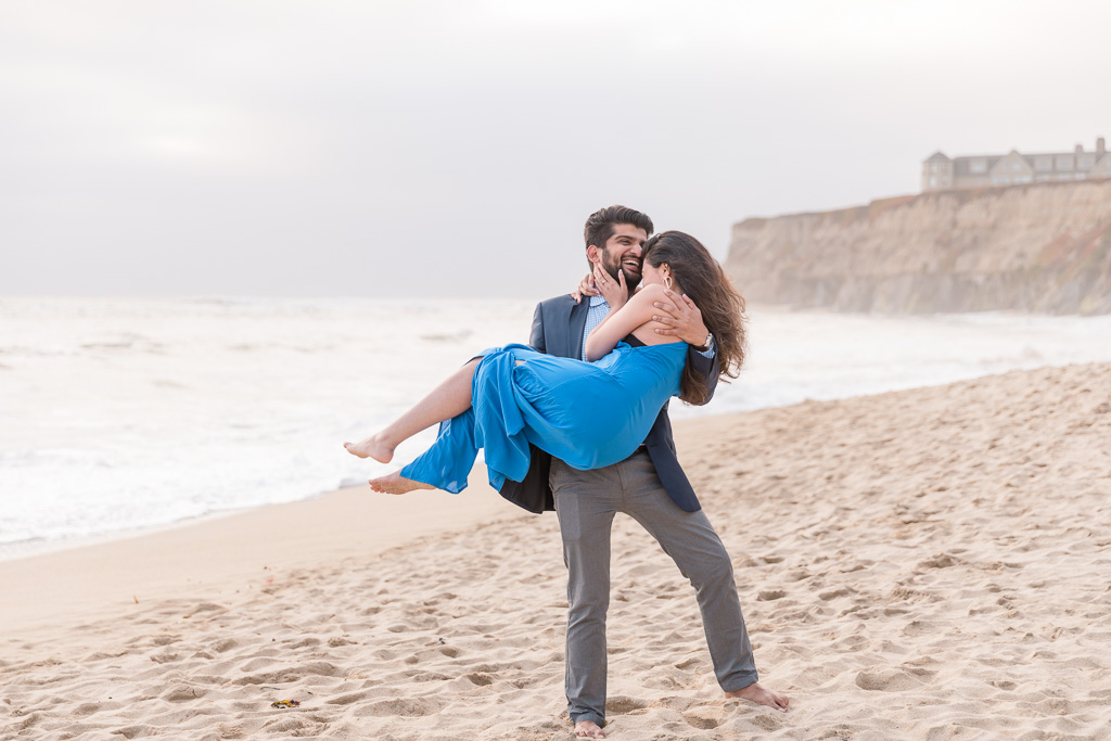 engagement photo session at Pelican Point Beach