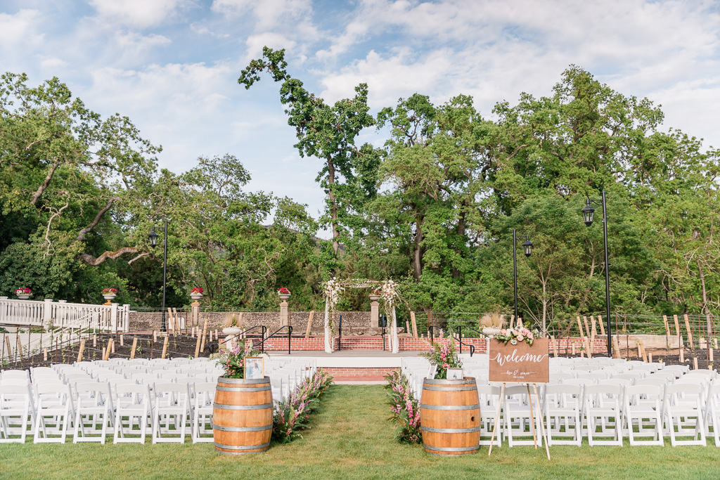 Silverado Resort outdoor ceremony area setup