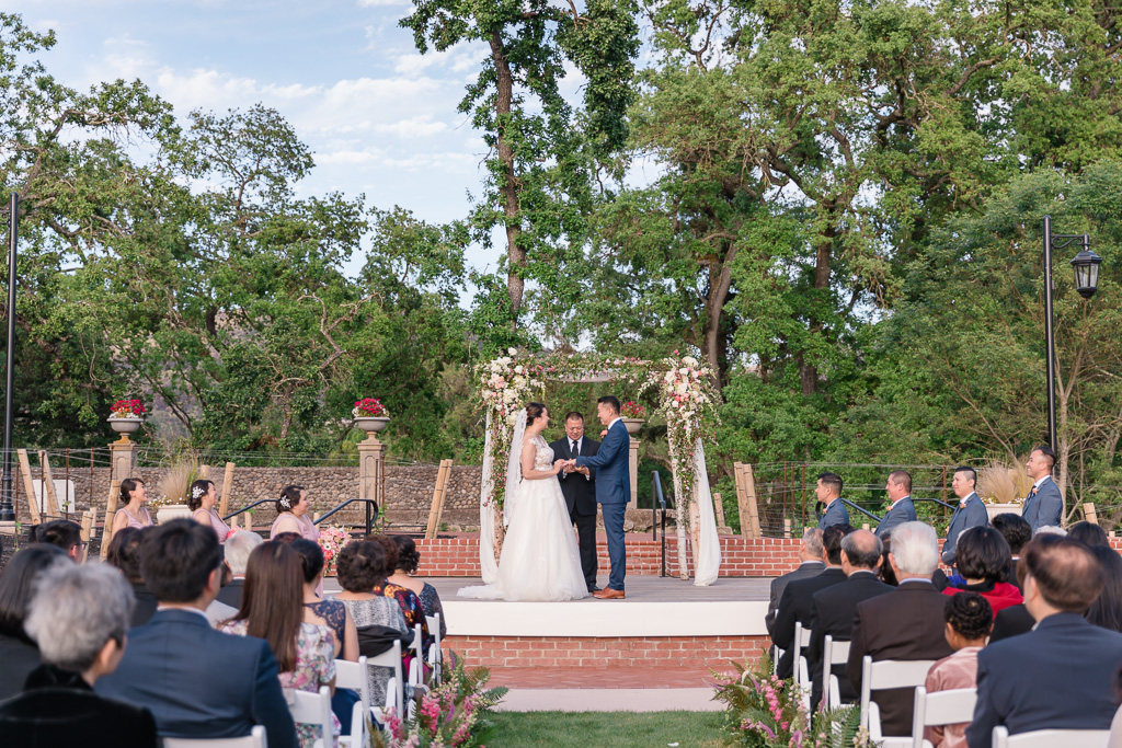 wedding ceremony at Silverado Resort in Napa