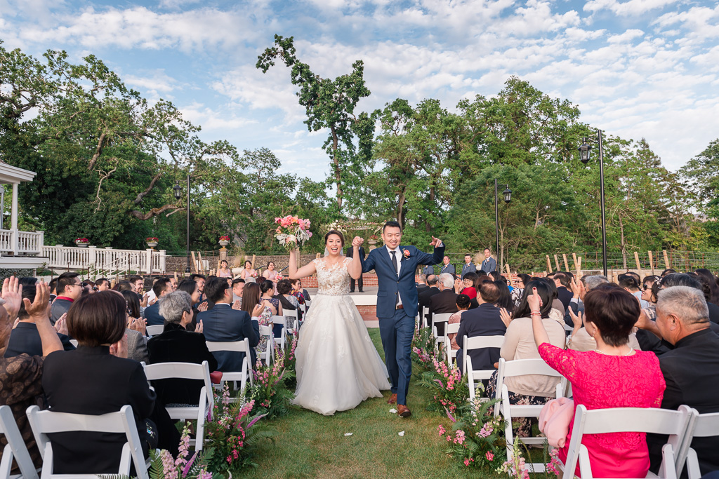 just married Silverado Resort Napa recessional
