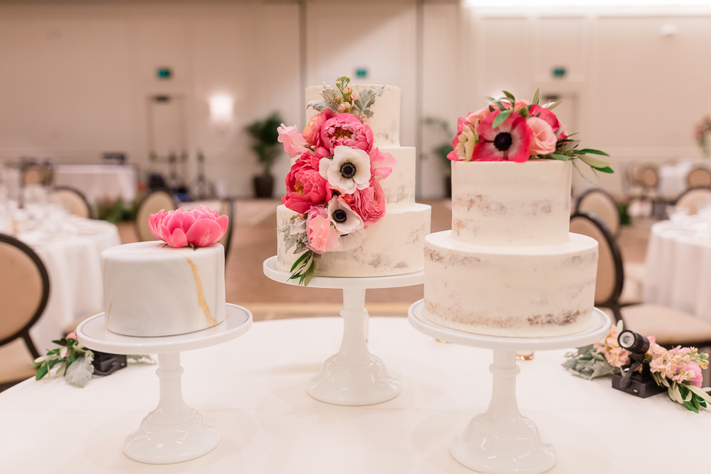 beautiful floral cake trio by Branching Out Cakes