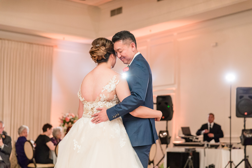 bride and groom first dance at Silverado Resort and Spa