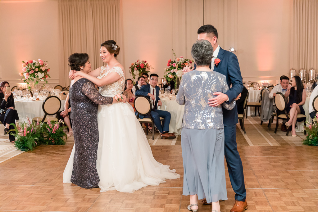 mother-daught and mother-son combo dance together