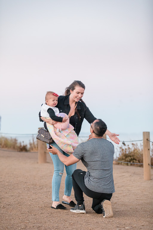 he incorporated their baby into the surprise marriage proposal