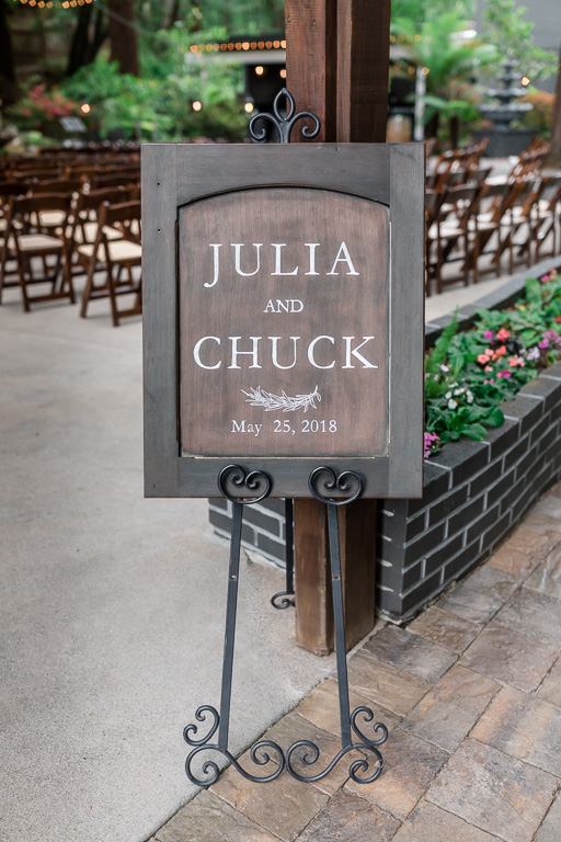 elegant wooden wedding sign