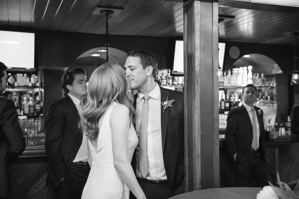 newlyweds chilling in the bar - Fairfax deer park villa wedding