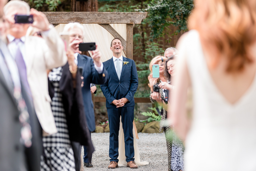 deer park villa wedding ceremony - the magical moment when the groom sees his bride